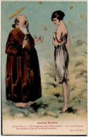 Femme Combinaison Saint Pierre Paradis  Dessin  Bunel 1910 état Superbe - Illustrators & Photographers