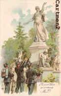 SOLDATS SUISSE MILITAIRE STATUE MONUMENT PATRIOTIQUE MILITAIRE CARTE ILLUSTREE 1900 PATRIOTISME - Patriotiques