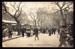 CPA PRECURSEUR- FRANCE-  PARIS (75)-  LE MARCHÉ AUX OISEAUX EN HIVER EN 1900- TRES BELLE ANIMATION- CLICHÉ RARE - Francia