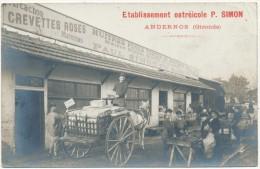 ANDERNOS - Carte Photo Légendée - Etablissement Ostréicole P. Simon - Andernos-les-Bains