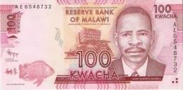BILLETE DE MALAWI DE 100 KWACHA DEL AÑO 2012 (BANKNOTE) - Malawi