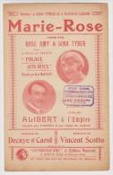 PARTITION  MARIE ROSE PALACE AUX NUES - TAMPONS PHONOS  DISQUES GOBELINS KERMESSE  ALIBERT - Édit. LA PARISIENNE PARIS - - Music & Instruments