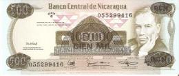 BILLETE DE NICARAGUA DE 100000 CORDOBAS DEL AÑO 1987 (BANK NOTE) SIN CIRCULAR-UNCIRCULATED - Nicaragua
