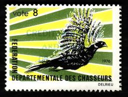Vignette De Vote   De La Federation Des Chasseurs (Ardennes? 1976) - Commemorative Labels