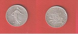 SEMEUSE     //  2  FRANCS  1904   //    état  TTB //  1 COUP TRANCHE - I. 2 Francs