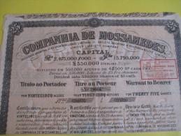 Titre Au Porteur De 25 Actions /Companhia De Mossamedes/ Brésil / 1910     ACT59 - Industrie
