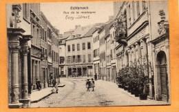 Echternach Bergstrasse Cafe Restaruant Grand Hotel Du Cerf 1905 Luxembourg Postcard - Echternach