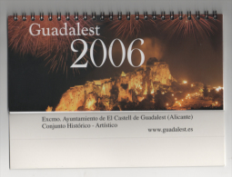 Alt2579 Calendrio Da Tavolo, Table Calendar, 2006 El Castell Guadalest Alicante Espana Spain Castell Castello Fireworks - Calendarios