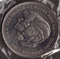 GB 25 NEW PENCE 1981 CHARLES & DIANA - 1971-… : Monedas Decimales