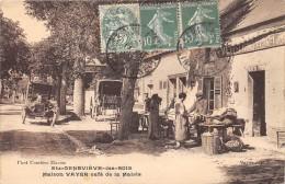 CPA 91 SAINTE GENEVIEVE DES BOIS MAISON VAYER CAFE DE LA MAIRIE (cpa Rare - Sainte Genevieve Des Bois