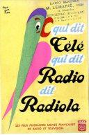 BUVARD  - RADIO BRACERA  -  M. LEMARIE  -  BERGERAC  -  DIM / 21 X 13 CM - Blotters