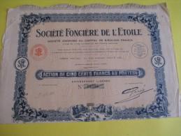 Action De 500 Francs Au Porteur/ Société Fonciére De L'Etoile/  / 1927   ACT62 - Industrie