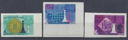 RUSSIE - 1963 -  25 ème CHAMPIONNATS D'ECHECS A MOSCOU -  N° 2669 à 2671 - NON DENTELES - XX - TB - - Unused Stamps