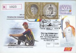 578- ROWING, ELISABETA LIPA, CHAMPION, REGISTERED COVER STATIONERY, ENTIER POSTAL, 2006, ROMANIA - Roeisport