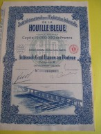 Action  De 100 Francs  Au Porteur/ Société Internationale Pour L'Exploitation De La Houille Bleue / 1927   ACT69 - Electricité & Gaz
