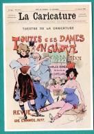 Publicité ; LA CARICATURE  Toutes Ces Dames En Culotte Revue De L Année 1877 .. 2 Scans - Tb - - Advertising
