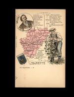 16 - Carte Departement - Charente - France