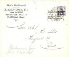 Etappen-Gent -Belgische Werkliedenpartij -St Nicolas-Waas (TB) Versogrand Sceau PPS Gent 70 Mm - WW I
