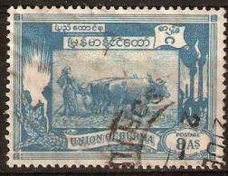 Birma 8A Light Blue - Myanmar (Birmanie 1948-...)