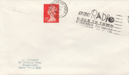 1991 GB COVER Bournemouth SLOGAN Pmk  BBC RADIO GOES TO BOURNEMOUTH PIER  Stamps Broadcasting - Sciences