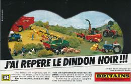 """Ancienne Publicite (1979) : BRITAINS """"la Qualité 32 Fois Plus Petite"""", Modèles Réduits, Tracteur, Cochons, Animaux, - Reclame"""