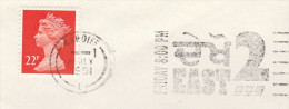 1991 GB COVER Cardiff SLOGAN Pmk FRIDAY 8pm EAST BBC2 Illus Language A.  Stamps Broadcasting Tv Television - Sciences