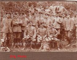 Orig.Photo Allemande-Militaires Soldats Allemand Et Leur Chien (9cm X6cm) (Pays De L'Est-Guerre14-18)2scans - Guerra 1914-18