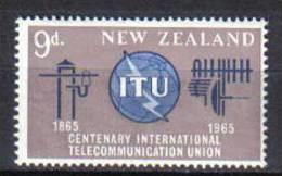 ZEL132 - NUOVA ZELANDA 1965 ,  Yvert Serie 427  ***  ITU - Nuovi