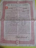 """Obligation De Premiére Hypothéque De 20 Livre/""""The Mexican Union Railway """"  /1910   ACT76 - Mines"""