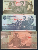 COREE DU NORD P49-57   1,5,10,50,100,200,500,100 0,5000 WON (2008) SERIE COMPLETE SURCHARGE 95 - Corea Del Nord