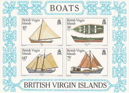 British Virgin Islands 1984 Boats Souvenir Sheet MNH - British Virgin Islands
