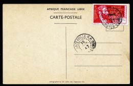 A2884) Kongo Karte Von Brazzaville 18.5.1942 Congo Libre - Congo - Brazzaville