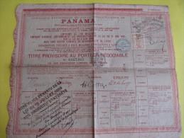 Titre Provisoire Au Porteur Négociable/Obligation Libérée De 60 Francs/Canal PANAMA /1888   ACT79 - Cinéma & Théatre