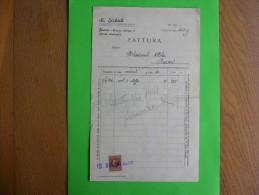 R!,history Document,fattura,bill,invoice,M. Sichich Confezioni,textile Company,Fiume,Rijeka,Croatia,tax Stamps,rare - Italia
