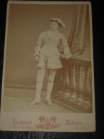 Belle Photo Ancienne Albumine Format Cabinet - Jeune Femme Costume Actrice Théatre Opéra - Photographe A. Bernoud LYON - Photographs