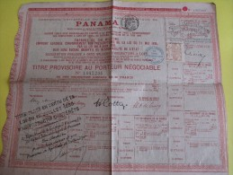 Titre Provisoire Au Porteur Négociable/Obligation Libérée De 60 Francs/Canal PANAMA /1888   ACT79 - Navy