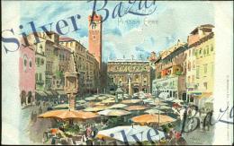 VERONA CITTA´ - PIAZZA ERNE - ILLUSTRATORE SALA - Verona
