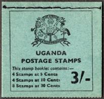 UGANDA. 1970 3/- STAMP BOOKLET COMPLETE MNH. - Uganda (1962-...)