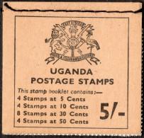 UGANDA. 1970 5/- STAMP BOOKLET COMPLETE MNH. - Ouganda (1962-...)