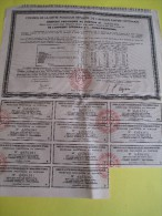 Récépissé Provisoire Au Porteur / Empire Ottoman  /1933  ACT81 - Bank & Insurance
