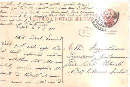 69186)cartolina Postale  Militare Corpo D'armata Tripolitania  Cirenaica A Catania  6-7-12 - 1900-44 Vittorio Emanuele III