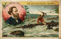 Chromo Ou Image  -    Les Explorateurs Célèbres -  Alfred Marche - Chaviré Dans Les Rapides De L'OGOOUE - Other