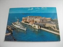 NAVE SHIP GUERRA  F 580 TARANTO PONTE GIREVOLE STORIA POSTALE FRANCOBOLLO CANE DOG  PASTORE MAREMMANO - Guerra