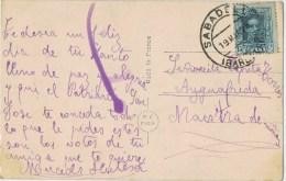 10278. Postal SABADELL (barcelona) 1926 A Aiguafreda - 1889-1931 Reino: Alfonso XIII