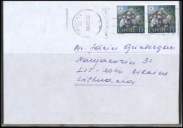 LATVIA Brief Cover  Postal History LV 157 Riga Cancellation Health Care Medicine - Lettonie
