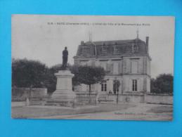 17 : NERE : L'HOTEL De VILLE Et Le MONUMENT Aux MORTS :  C.P.A:.,carte En Trés Bon état ,animée - Altri Comuni