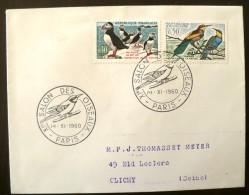 FRANCE Flamme Obliteration Salon Des Oiseaux 14/11/1960 (Yvert 1274+76) - Birds