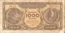 BILLETE DE GRECIA DE 1000 DRACMAS DEL AÑO 1950   (BANK NOTE) - Grecia
