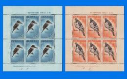 NZ 1960-0001, Healh Stamps, Complete Set Of 2 MNH Miniature Sheets - Blocks & Sheetlets