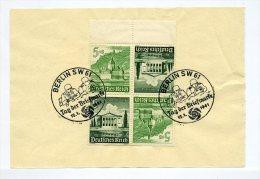 1941 3. Reich Zusammendruck  KZ 38 Kehrdruckpaar Auf Vorlageblatt  SST Tag Der Briefmarke Infanterie - Zusammendrucke